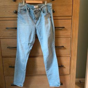 Loft light wash stretch skinny jeans 12 / 31